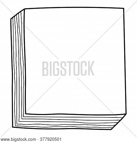 Decorative Frame. A Stack Of Notes For Decoration, Greeting Cards And Design.