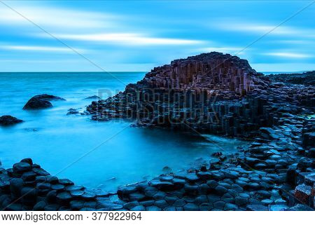 Morning View Of A Causeway Coast And Glens With Giants Causeway