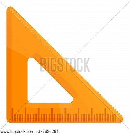 Carpenter Angle Ruler Icon. Cartoon Of Carpenter Angle Ruler Vector Icon For Web Design Isolated On