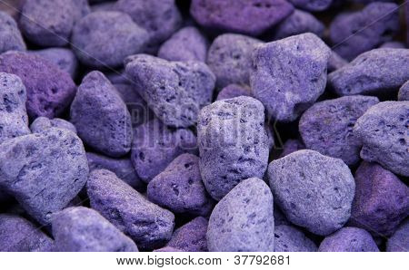 Lava And Pumice Tinted Purple And Blue