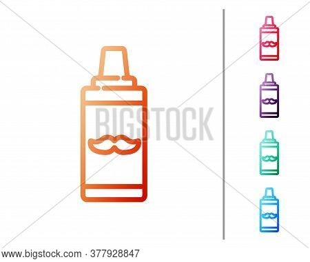 Red Line Shaving Gel Foam Icon Isolated On White Background. Shaving Cream. Set Color Icons. Vector