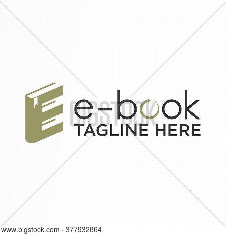 Logo, Design, Vector, Icon, Idea, Concept, Image, Abstract, Symbol, Graphic With Font E And Book (e