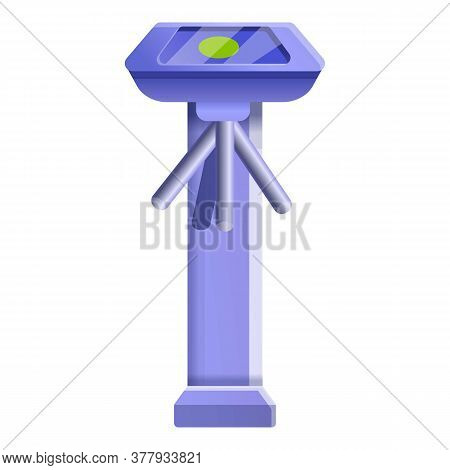 Access Turnstile Icon. Cartoon Of Access Turnstile Vector Icon For Web Design Isolated On White Back