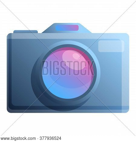 Digital Camera Icon. Cartoon Of Digital Camera Vector Icon For Web Design Isolated On White Backgrou
