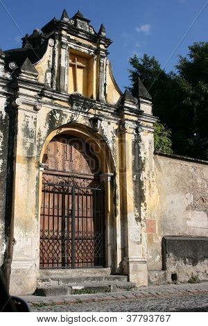 Ancient gates of a Spanish colonial church