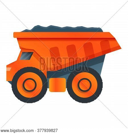 Dump Truck Icon. Cartoon Of Dump Truck Vector Icon For Web Design Isolated On White Background