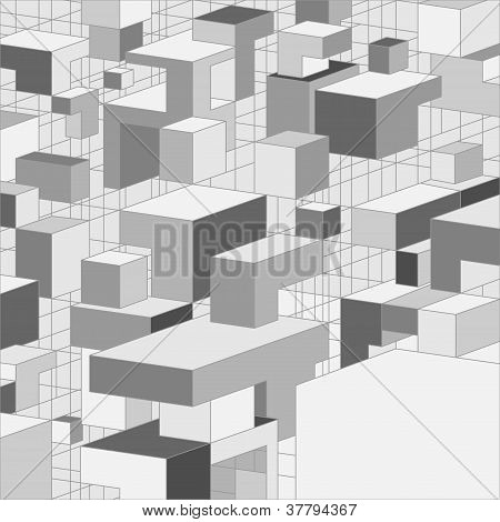 Abstract 3D grey background for design