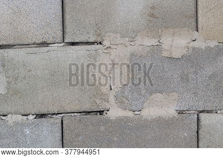 White Brick Wall. Stone Wall Texture. Background From Masonry Bricks With Cement.