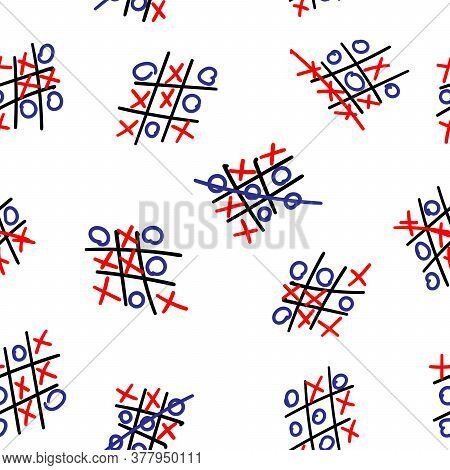 A Hand-drawn Tic-tac Toe Game Seamless Pattern