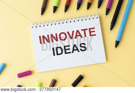 Innovative Ideas Business Innovation Concept In Messy Office Interior
