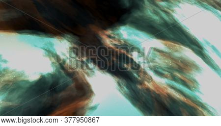 3d Illustration Star Nebula Galactic Cloud Rendered In Multicolor And Multiple Lights