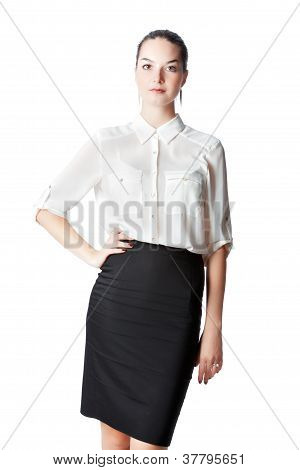 woman in business style