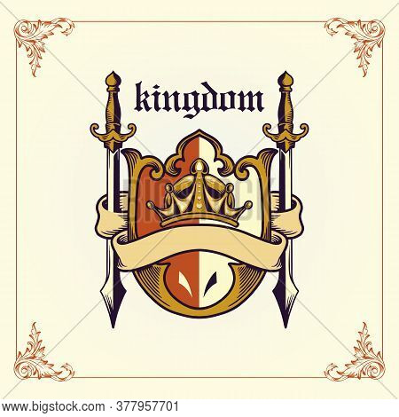 Kingdom Badge Arm With Ribbon For Your Logo