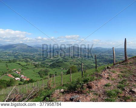 Camino De Santiago Pilgrimage Way In Pyrenees From France St. Jean Pied De Port To Roncesvalles Spai
