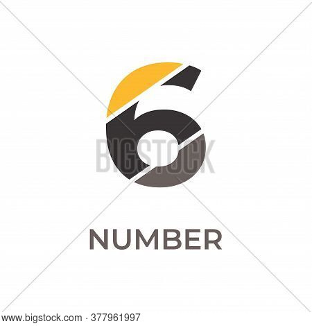 Number 6 Logo Design. Number 6 Vector Illustration. Number 6 Icon Simple Vector Sign And Modern Symb