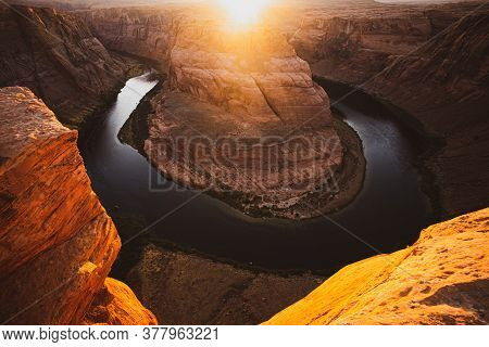 Grand Canyon National Park. Arizona Horseshoe Bend In Grand Canyon
