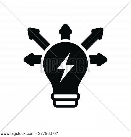 Black Solid Icon For Creativity-mode Mindset Mentality Motivation Mind Power