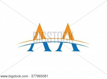 Aa Letter Linked Logo For Business And Company Identity.