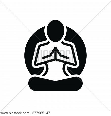 Black Solid Icon For Meditation Yoga  Meditation  Yoga-poses Concentration Relaxation Relax Exercise