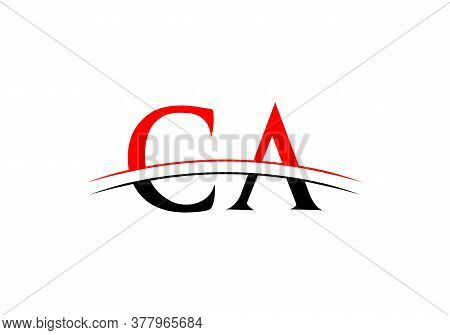 Letter Ca Logo Vector Template. Ca Letter Linked Logo For Business And Company Identity.