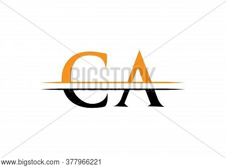 Ca Initial Letter Logo Design For Corporate Business Identity.