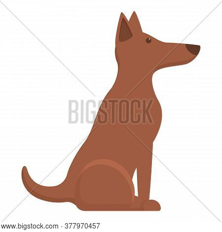 Sit Command Dog Icon. Cartoon Of Sit Command Dog Vector Icon For Web Design Isolated On White Backgr