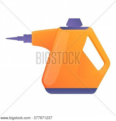 House Steam Cleaner Icon. Cartoon Of House Steam Cleaner Vector Icon For Web Design Isolated On Whit
