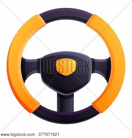 Luxury Steering Wheel Icon. Cartoon Of Luxury Steering Wheel Vector Icon For Web Design Isolated On