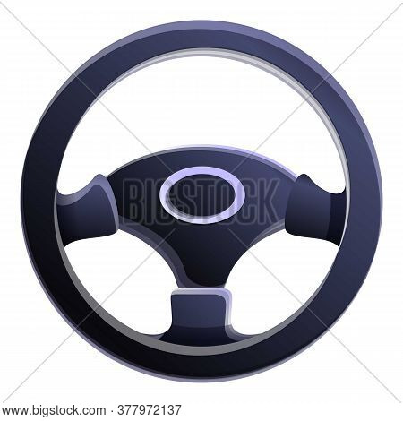 Sport Steering Wheel Icon. Cartoon Of Sport Steering Wheel Vector Icon For Web Design Isolated On Wh