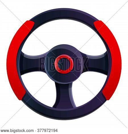 Video Game Steering Wheel Icon. Cartoon Of Video Game Steering Wheel Vector Icon For Web Design Isol