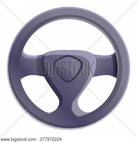 Sedan Car Steering Wheel Icon. Cartoon Of Sedan Car Steering Wheel Vector Icon For Web Design Isolat