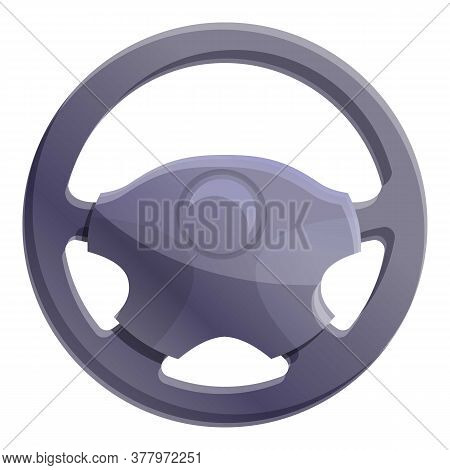 Modern Steering Wheel Icon. Cartoon Of Modern Steering Wheel Vector Icon For Web Design Isolated On