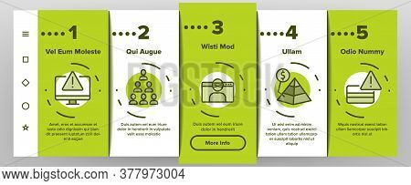 Scam Finance Criminal Onboarding Mobile App Page Screen Vector. Internet And Mobile Phone Scam, Comp