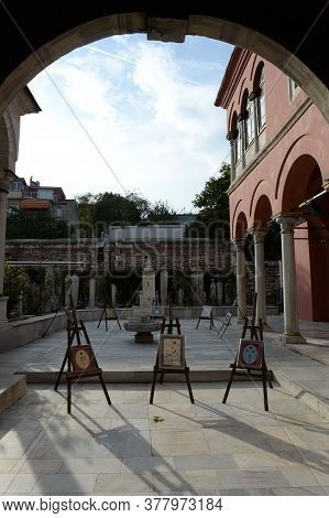 Istanbul,turkey - November 4, 2019:society For The Preservation Of Ancient Monuments In Istanbul. Tu