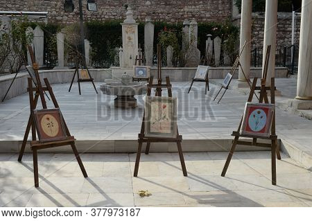 Istanbul,turkey - November 4, 2019:exhibition At The Premises Of The Society For The Preservation Of