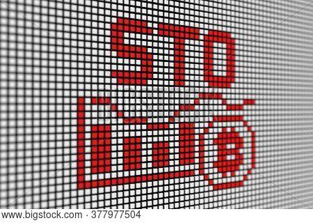 Sto Text Scoreboard Blurred Background 3d Illustration