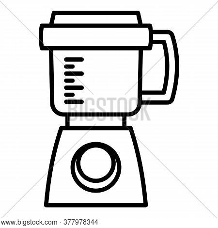 Modern Food Processor Icon. Outline Modern Food Processor Vector Icon For Web Design Isolated On Whi