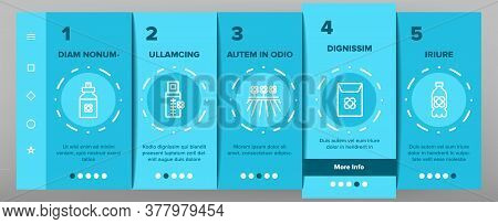 Canola Agricultural Onboarding Mobile App Page Screen Vector. Canola Agriculture Flower Field And Po