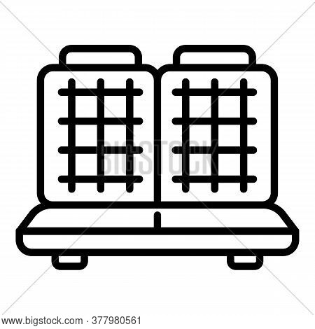 Household Waffle-iron Icon. Outline Household Waffle-iron Vector Icon For Web Design Isolated On Whi