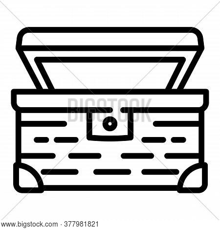 Open Dower Chest Icon. Outline Open Dower Chest Vector Icon For Web Design Isolated On White Backgro