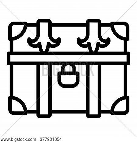 Old Dower Chest Icon. Outline Old Dower Chest Vector Icon For Web Design Isolated On White Backgroun