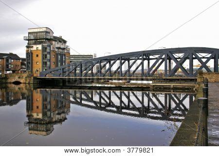 Swing Bridge Over Water Of Leith, Scotland