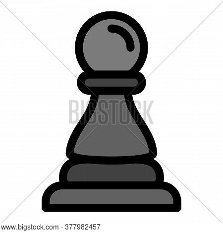 Chess Pawn Icon. Outline Chess Pawn Vector Icon For Web Design Isolated On White Background