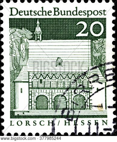 02 11 2020 Divnoe Stavropol Territory Russia The Postage Stamp Germany 1967 Building Structures Of T