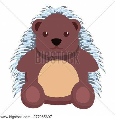 Adorable Porcupine Icon. Cartoon Of Adorable Porcupine Vector Icon For Web Design Isolated On White
