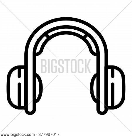 Music Headphones Icon. Outline Music Headphones Vector Icon For Web Design Isolated On White Backgro