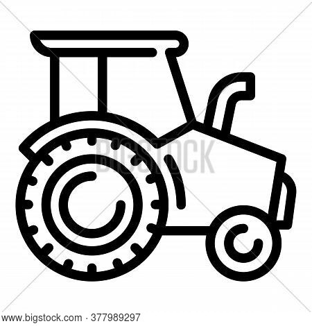 Heavy Tractor Icon. Outline Heavy Tractor Vector Icon For Web Design Isolated On White Background
