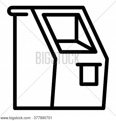Bank Terminal Icon. Outline Bank Terminal Vector Icon For Web Design Isolated On White Background
