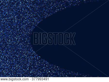 Silver Shimmer Vector Sky Template. Dark Light Confetti Banner. Star Digital Wallpaper. White Cosmos