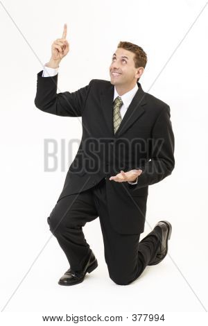 Businessman On Knees 2